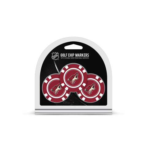 Arizona Coyotes 3 Pack Golf Chip Ball Markers