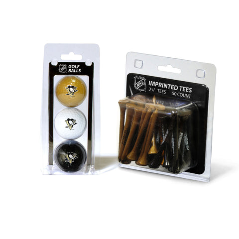 Pittsburgh Penguins 3 Golf Balls And 50 Golf Tees