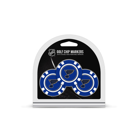St Louis Blues 3 Pack Golf Chip Ball Markers