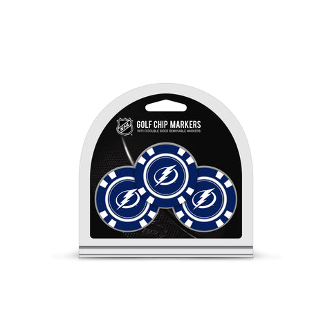Tampa Bay Lightning 3 Pack Golf Chip Ball Markers