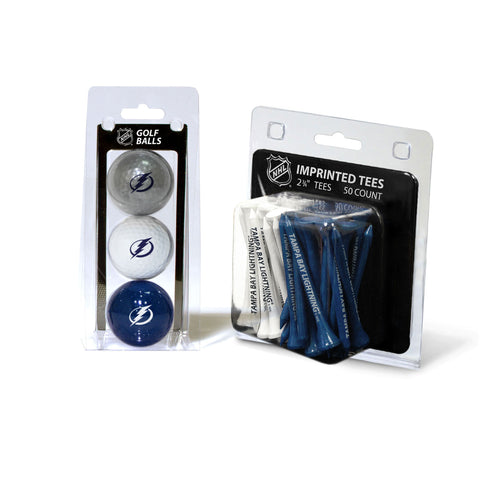 Tampa Bay Lightning 3 Golf Balls And 50 Golf Tees