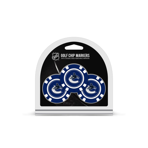 Vancouver Canucks 3 Pack Golf Chip Ball Markers