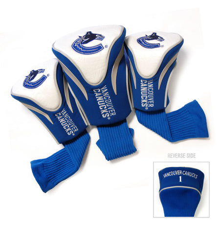 Vancouver Canucks 3 Pack Contour Head Covers