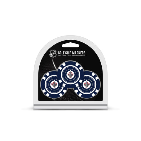 Winnipeg Jets 3 Pack Golf Chip Ball Markers