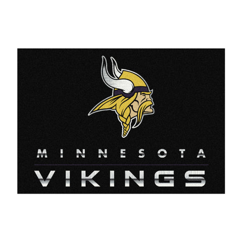 Minnesota Vikings 8X11 Chrome Rug