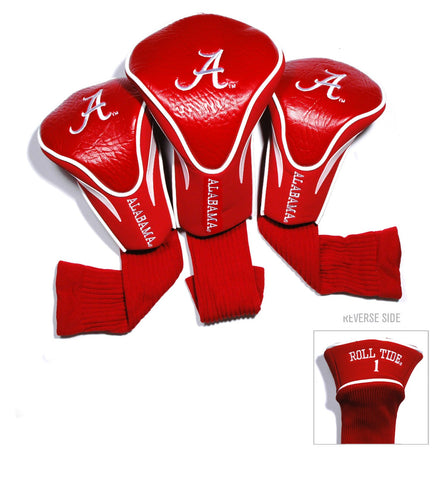 Alabama Crimson Tide 3 Pack Contour Head Covers