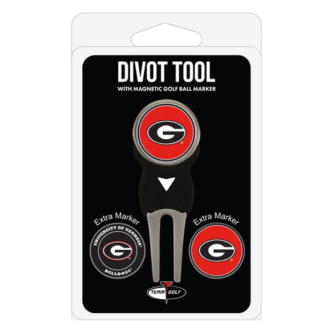 Georgia Bulldogs Divot Tool Pack With 3 Golf Ball Markers