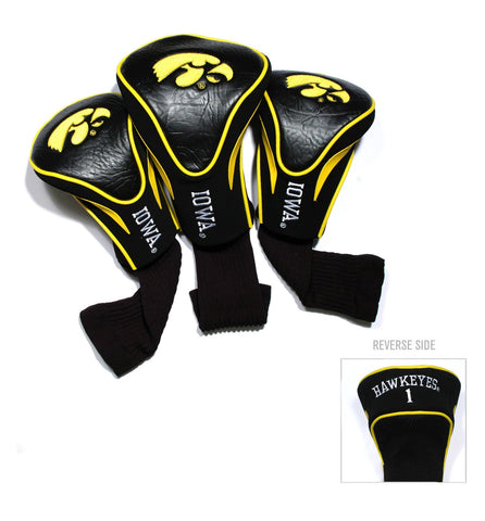 Iowa Hawkeyes 3 Pack Contour Head Covers