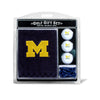 Michigan Wolverines Embroidered Golf Towel, 3 Golf Ball, and Golf Tee Set