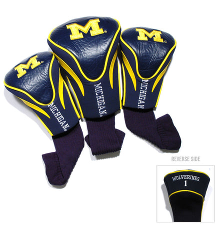 Michigan Wolverines 3 Pack Contour Head Covers