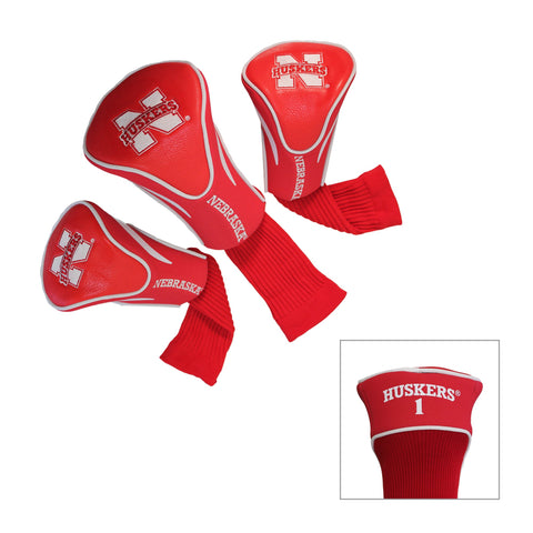Nebraska Cornhuskers 3 Pack Contour Head Covers