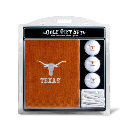 Texas Longhorns Embroidered Golf Towel, 3 Golf Ball, and Golf Tee Set