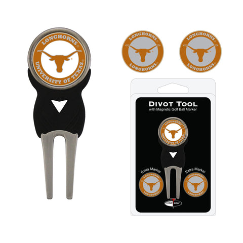 Texas Longhorns Divot Tool Pack With 3 Golf Ball Markers
