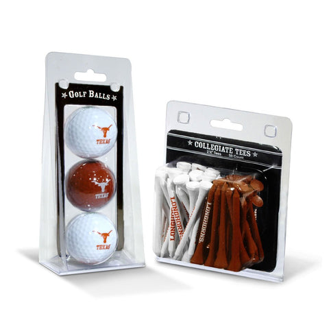 Texas Longhorns 3 Golf Balls And 50 Golf Tees