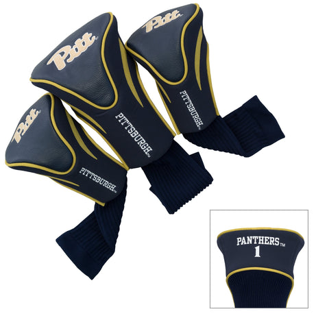Pitt Panthers 3 Pack Contour Head Covers