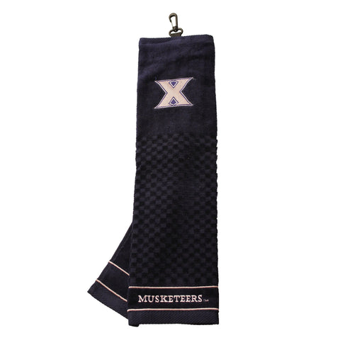 Xavier Musketeers Embroidered Golf Towel