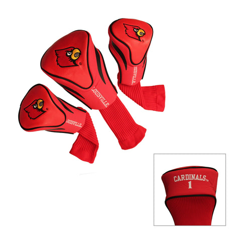 Louisville Cardinals 3 Pack Contour Head Covers
