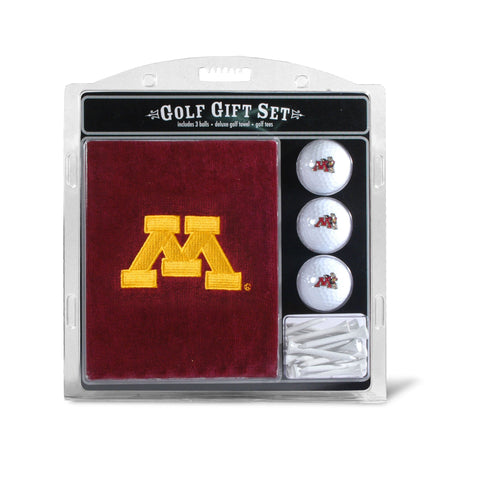 Minnesota Golden Gophers Embroidered Golf Towel, 3 Golf Ball, and Golf Tee Set