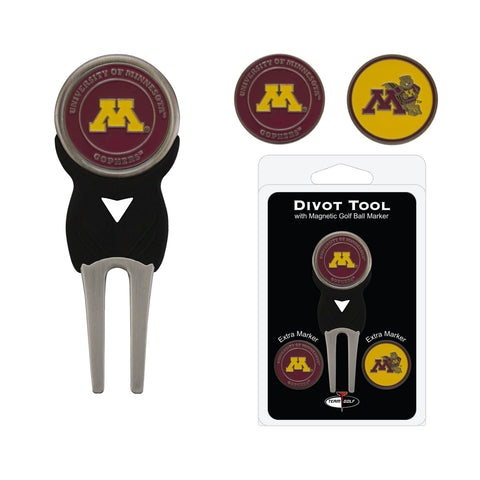 Minnesota Golden Gophers Divot Tool Pack With 3 Golf Ball Markers