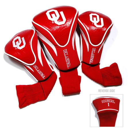 Oklahoma Sooners 3 Pack Contour Head Covers