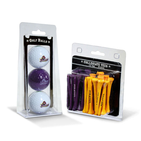 East Carolina Pirates 3 Golf Balls And 50 Golf Tees