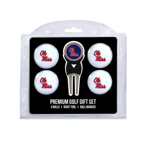 Ole Miss Rebels 4 Golf Ball And Divot Tool Set