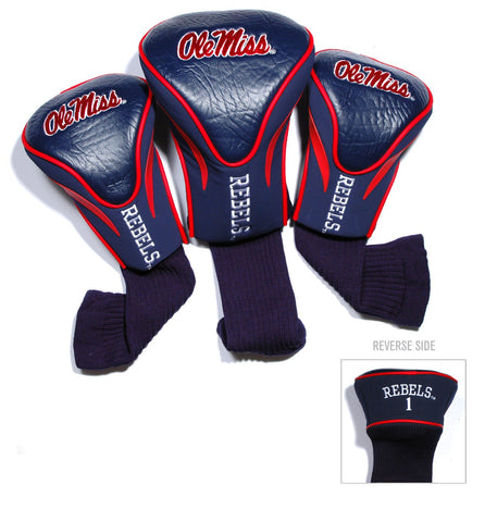 Ole Miss Rebels 3 Pack Contour Head Covers
