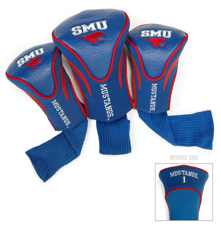 SMU Mustangs 3 Pack Contour Head Covers