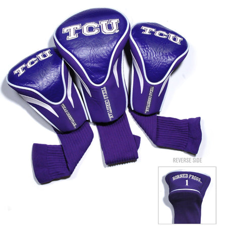 TCU Horned Frogs 3 Pack Contour Head Covers