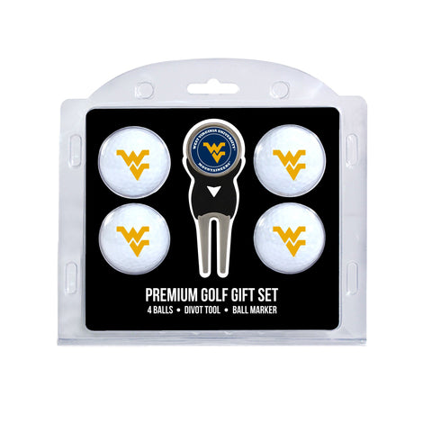 West Virginia Mountaineers 4 Golf Ball And Divot Tool Set