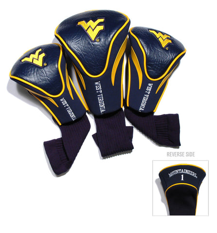 West Virginia Mountaineers 3 Pack Contour Head Covers