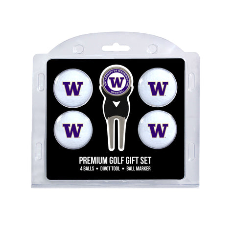 Washington Huskies 4 Golf Ball And Divot Tool Set
