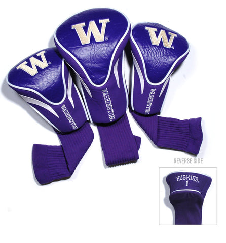 Washington Huskies 3 Pack Contour Head Covers