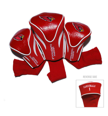 Arizona Cardinals 3 Pack Contour Head Covers