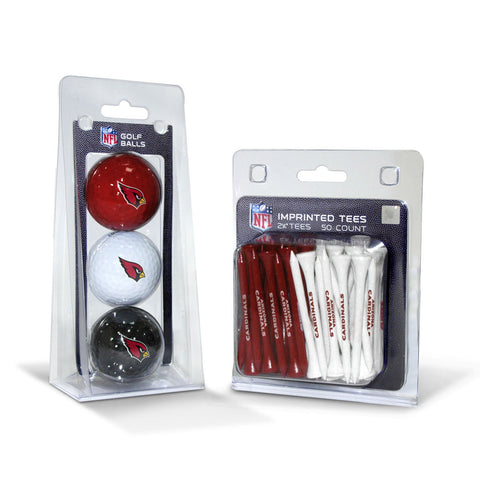 Arizona Cardinals 3 Golf Balls And 50 Golf Tees