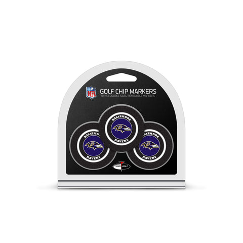 Baltimore Ravens 3 Pack Golf Chip Ball Markers