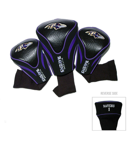 Baltimore Ravens 3 Pack Contour Head Covers