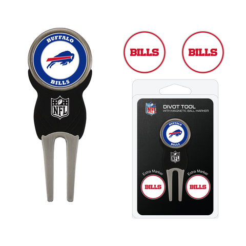 Buffalo Bills Divot Tool Pack With 3 Golf Ball Markers