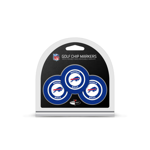 Buffalo Bills 3 Pack Golf Chip Ball Markers