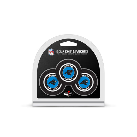 Carolina Panthers 3 Pack Golf Chip Ball Markers