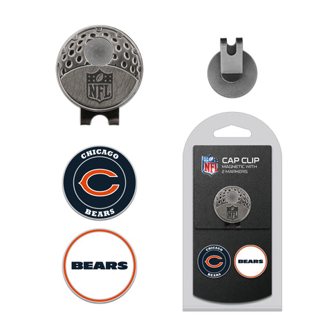 Chicago Bears Cap Clip With 2 Golf Ball Markers