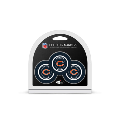 Chicago Bears 3 Pack Golf Chip Ball Markers
