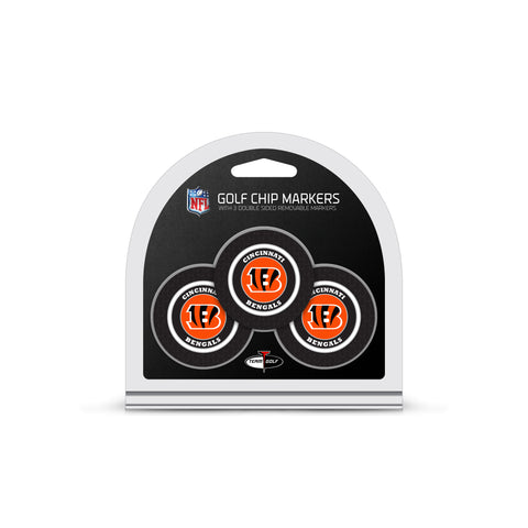 Cincinnati Bengals 3 Pack Golf Chip Ball Markers