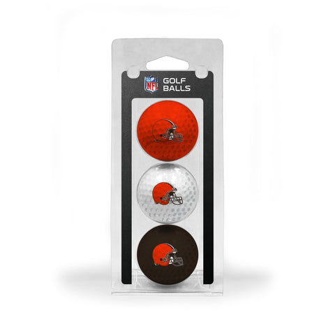 Cleveland Browns 3 Golf Ball Pack