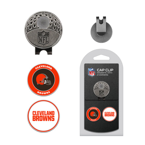 Cleveland Browns Cap Clip With 2 Golf Ball Markers