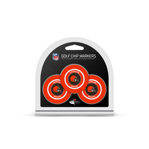 Cleveland Browns 3 Pack Golf Chip Ball Markers