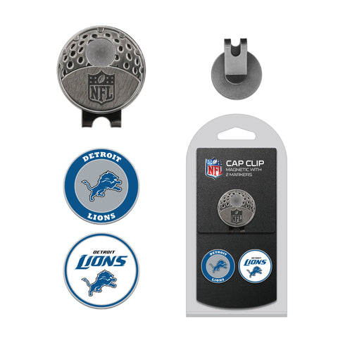 Detroit Lions Cap Clip With 2 Golf Ball Markers