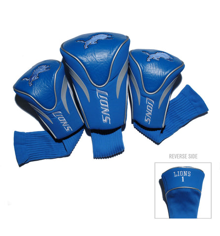 Detroit Lions 3 Pack Contour Head Covers