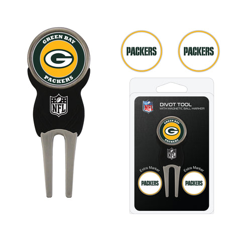 Green Bay Packers Divot Tool Pack With 3 Golf Ball Markers