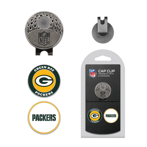 Green Bay Packers Cap Clip With 2 Golf Ball Markers